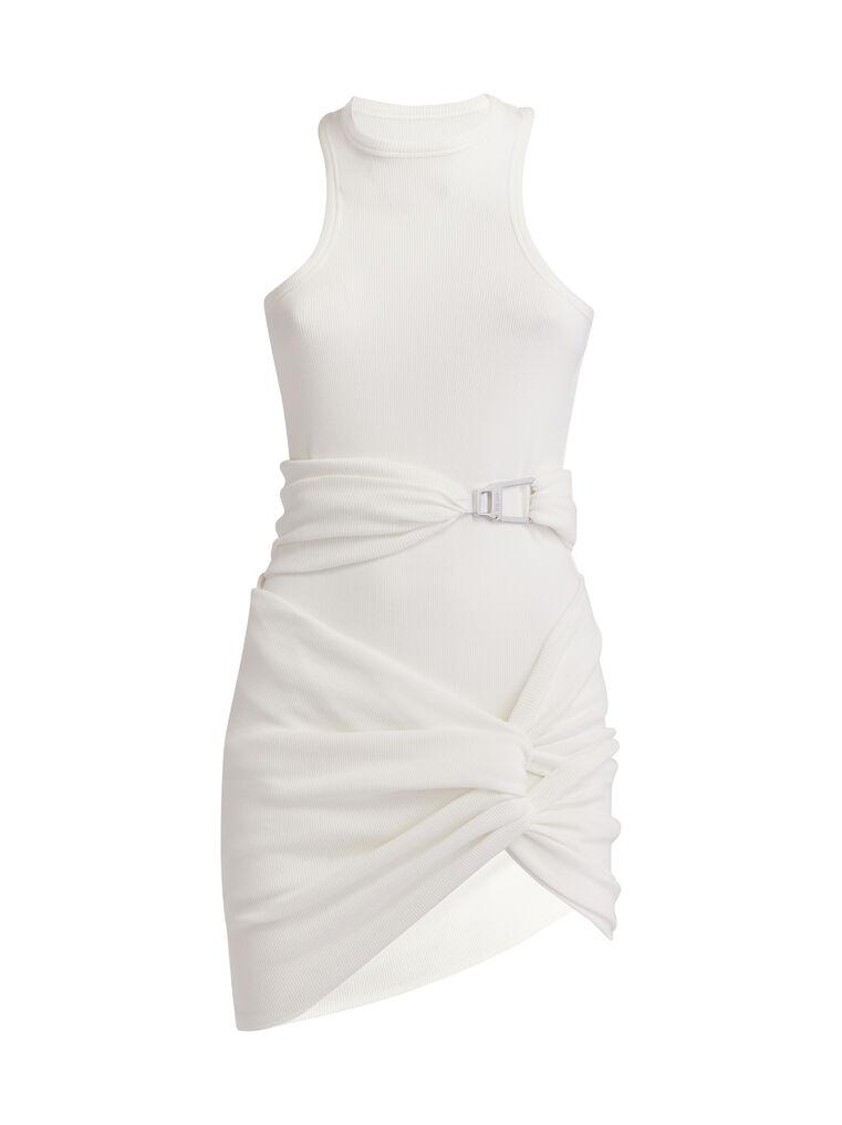 """THE ATTICO """"Cindy"""" white mini dress 4"""