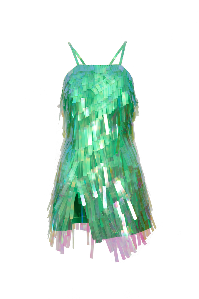 The Attico Embroidered slip dress 4