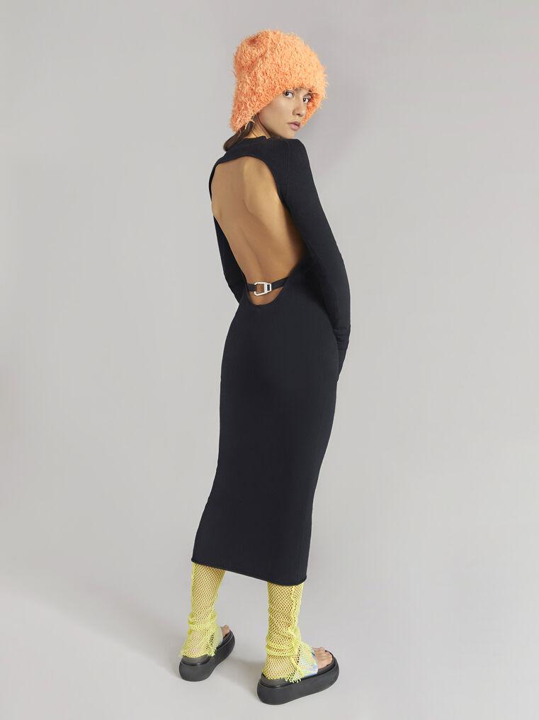 THE ATTICO Black midi dress 3