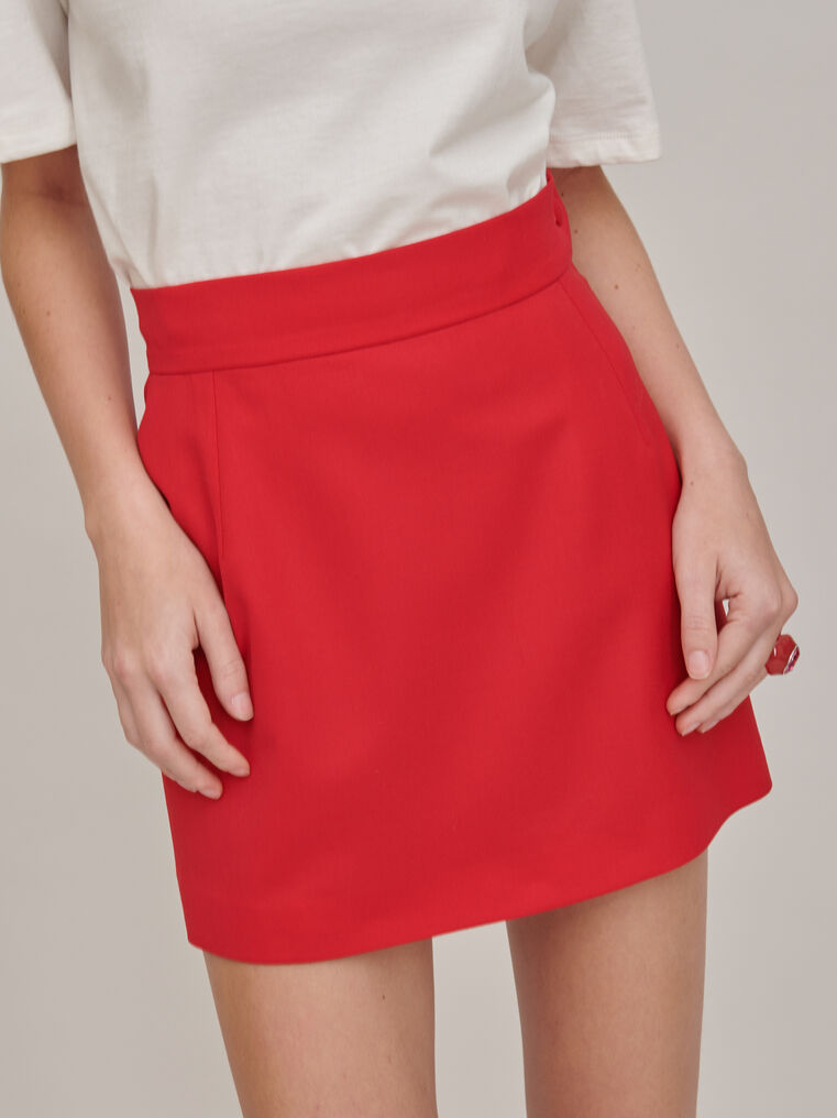 The Attico Red mini skirt 3