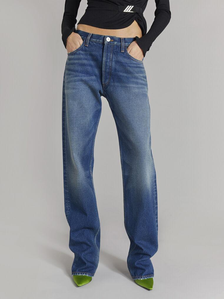 THE ATTICO Boyfriend dark blue jeans 2