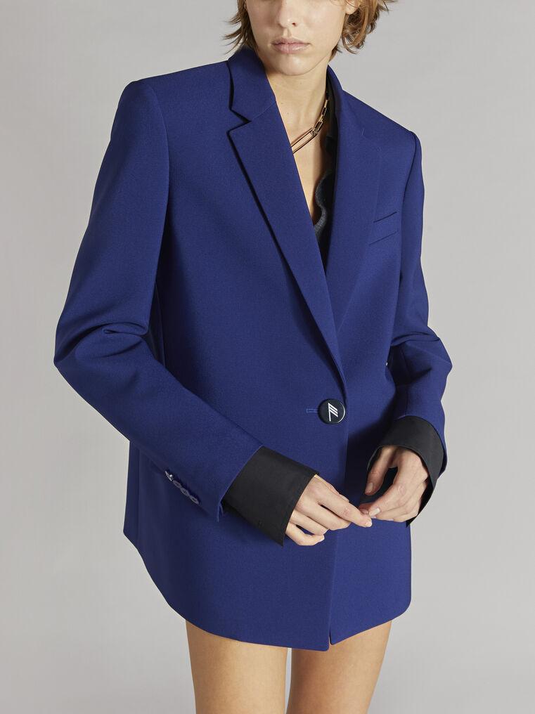 "THE ATTICO ""Bianca"" blue navy blazer jacket 2"
