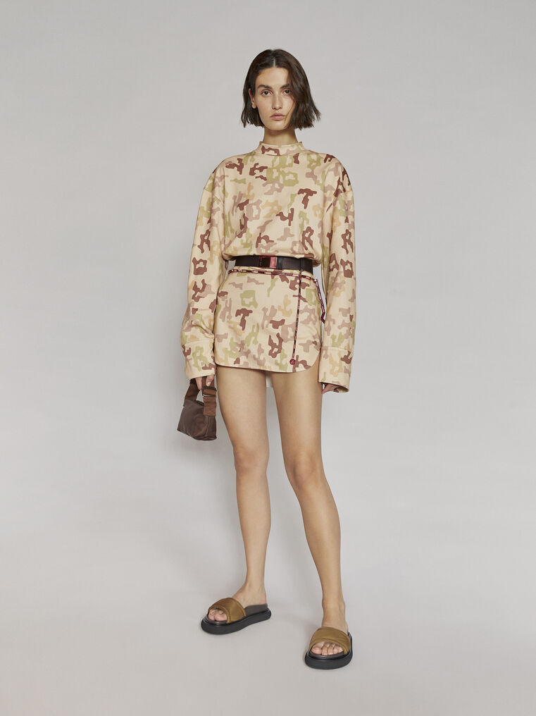 """THE ATTICO """"Palmer"""" camouflage mini dress 1"""