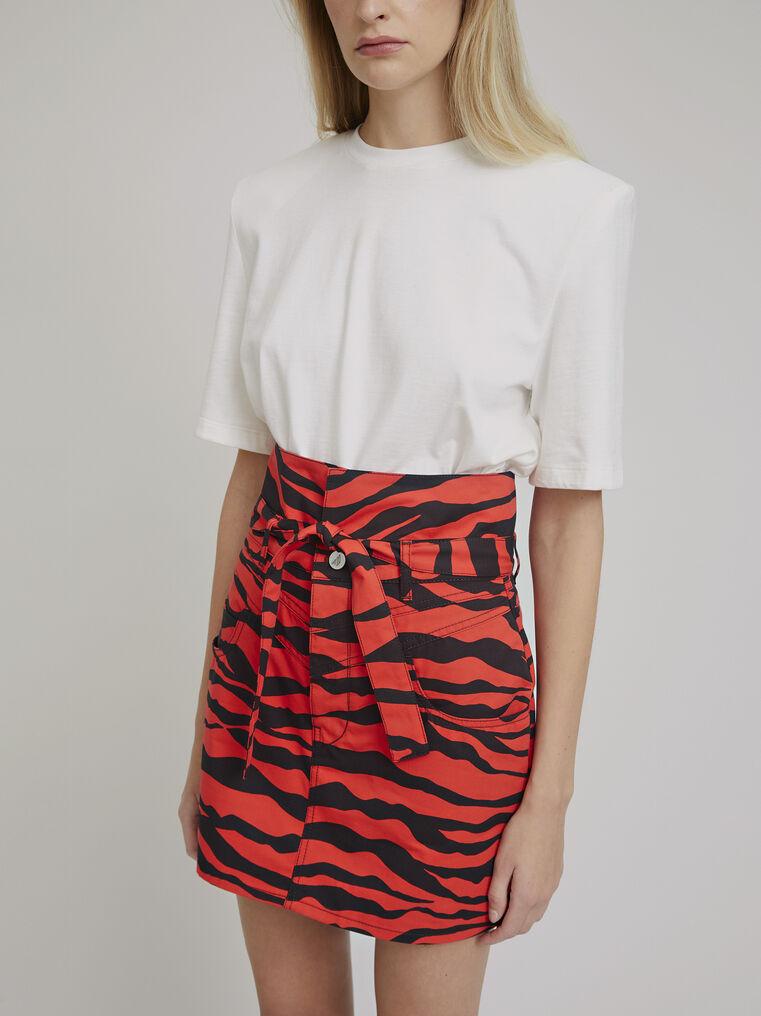 """The Attico """"Virgi"""" red and black zebra print mini skirt 2"""