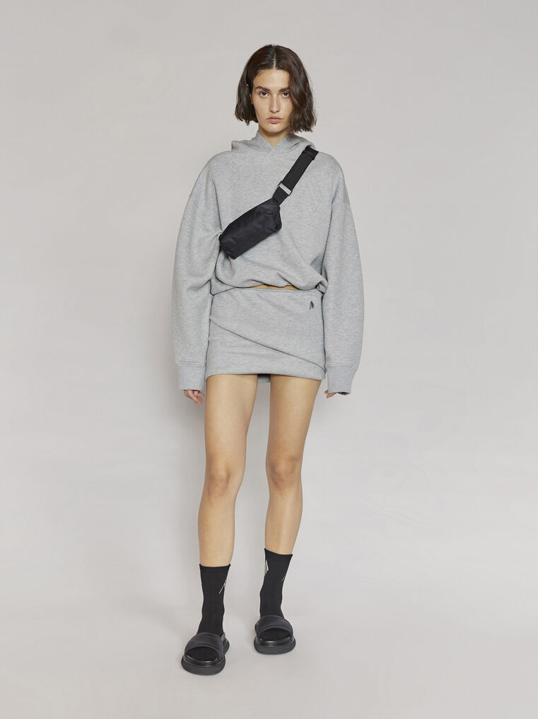 "THE ATTICO ""Ezra"" light grey mini skirt 1"