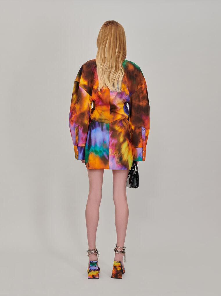"""The Attico """"Lala"""" multicolor chemisier mini dress 3"""