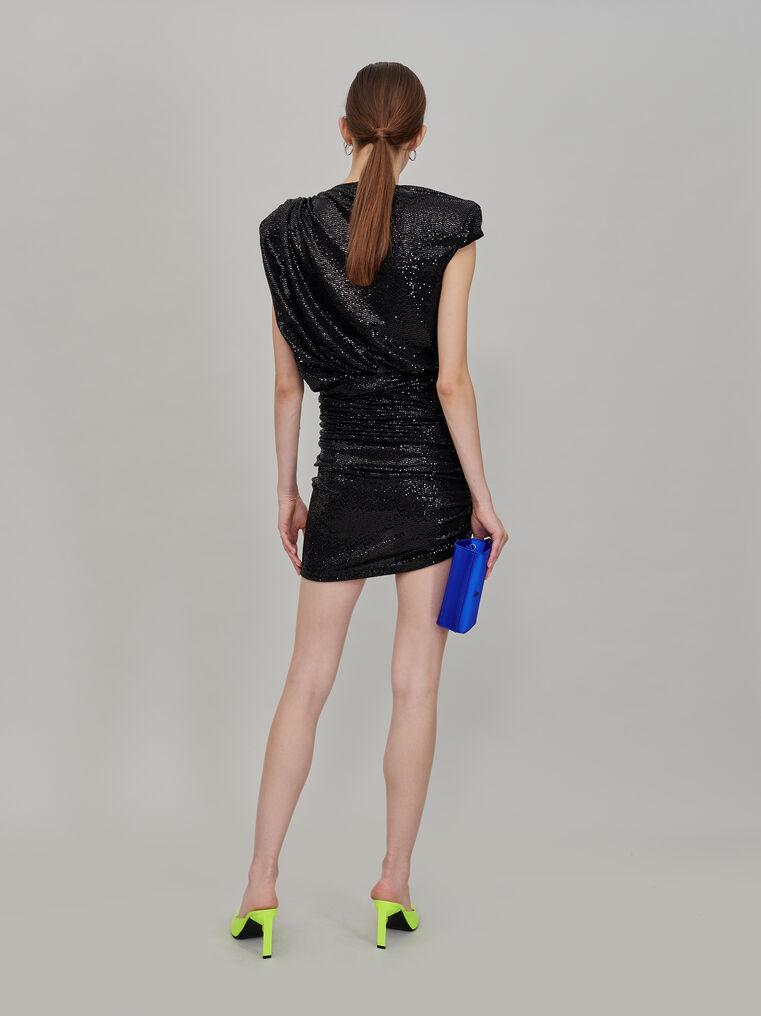 The Attico Black draped mini skirt 3