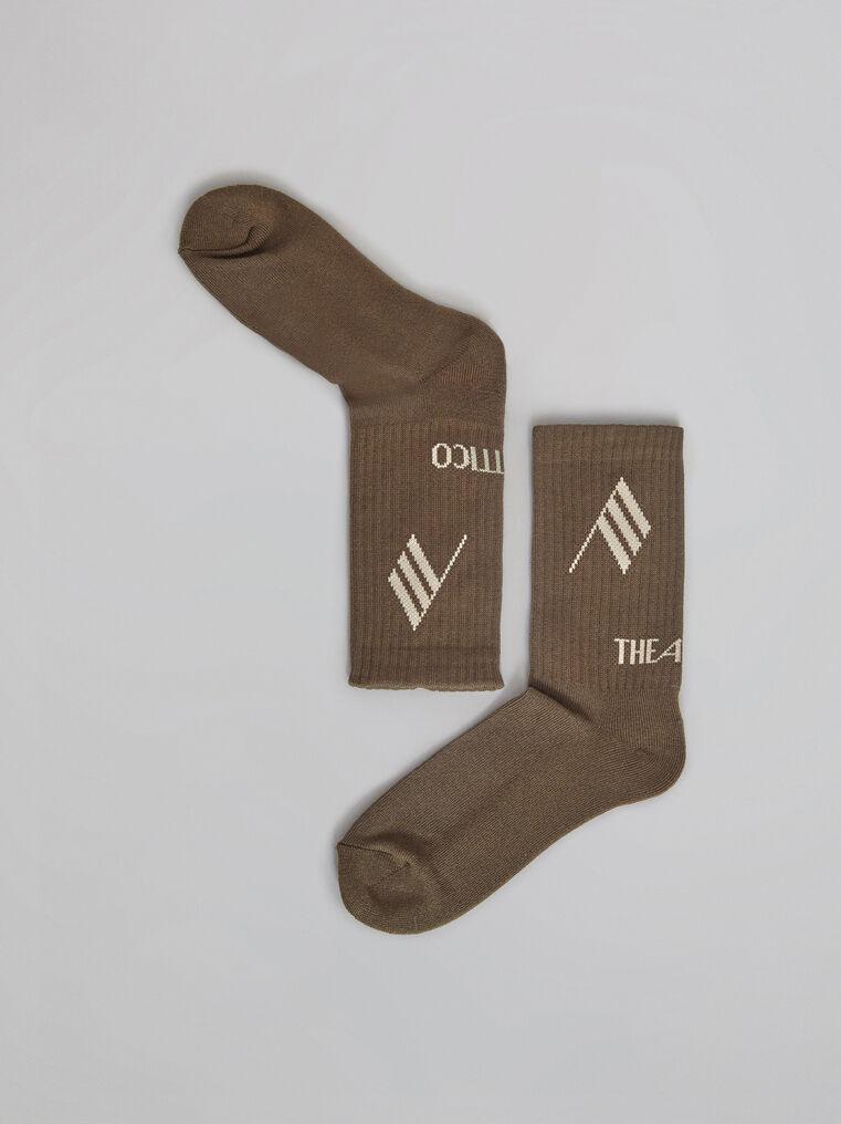 THE ATTICO Army bicolor sponge short socks 2