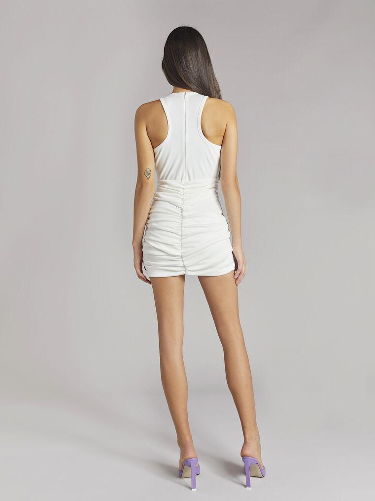 """THE ATTICO """"Cindy"""" white mini dress 3"""