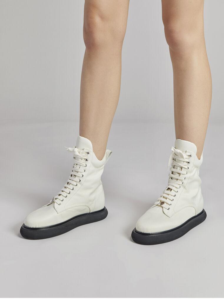 """THE ATTICO """"Selene"""" milk boots 1"""