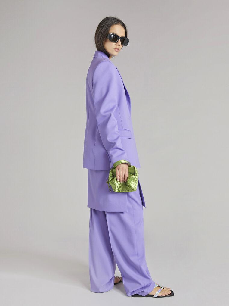 "THE ATTICO ""Blue"" lilac clessidra jacket 3"
