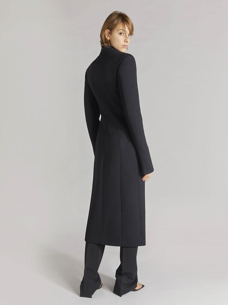 """THE ATTICO """"Milla"""" black fitted coat 3"""