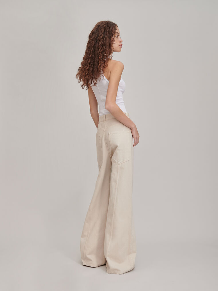 "The Attico ""Mica"" white denim pants 2"