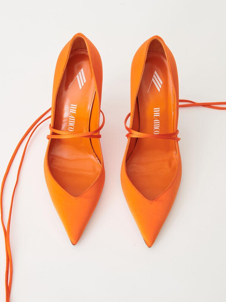 """The Attico Orange satin """"Ruby"""" pump 2"""