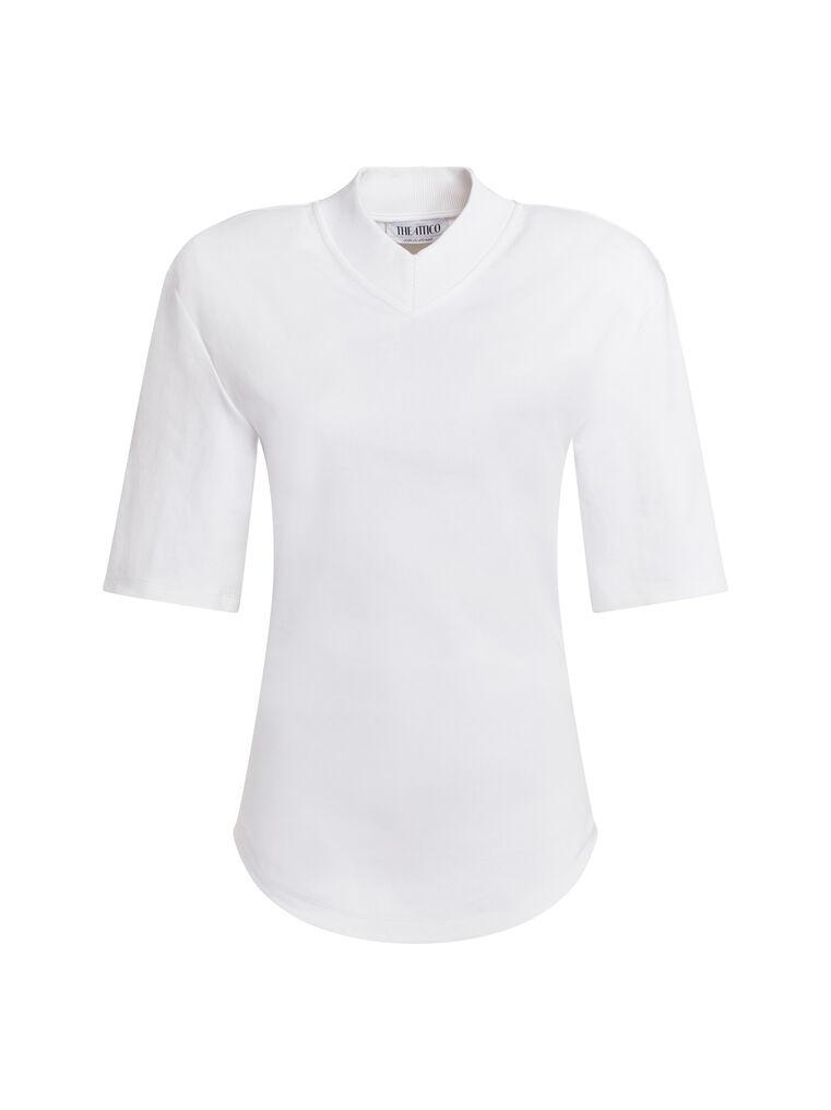 """THE ATTICO """"Abbi"""" mastic t-shirt 4"""