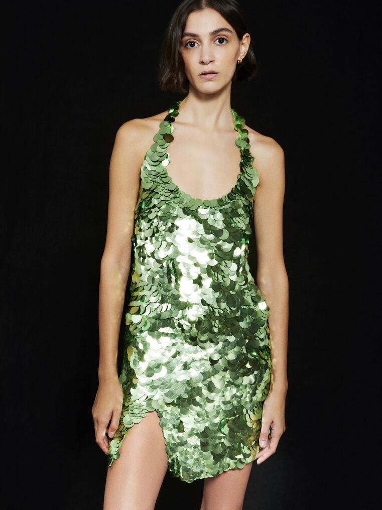 THE ATTICO ''Allium'' green mini dress 2