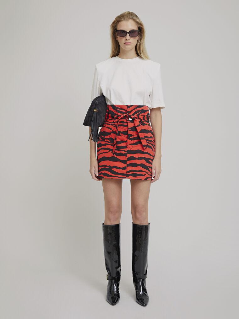 """The Attico """"Virgi"""" red and black zebra print mini skirt 1"""