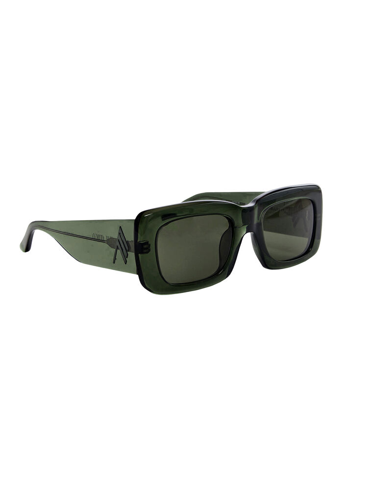 """THE ATTICO """"Marfa"""" military green sunglasses 3"""