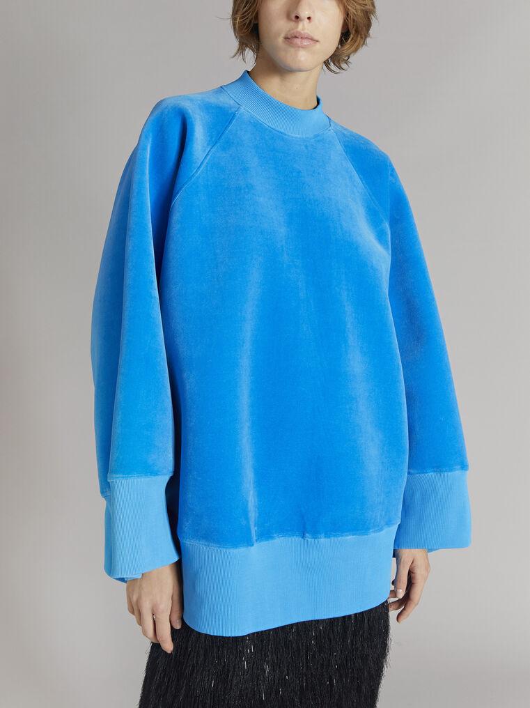 "THE ATTICO ""Vincen"" turquoise oversize sweatshirt 2"
