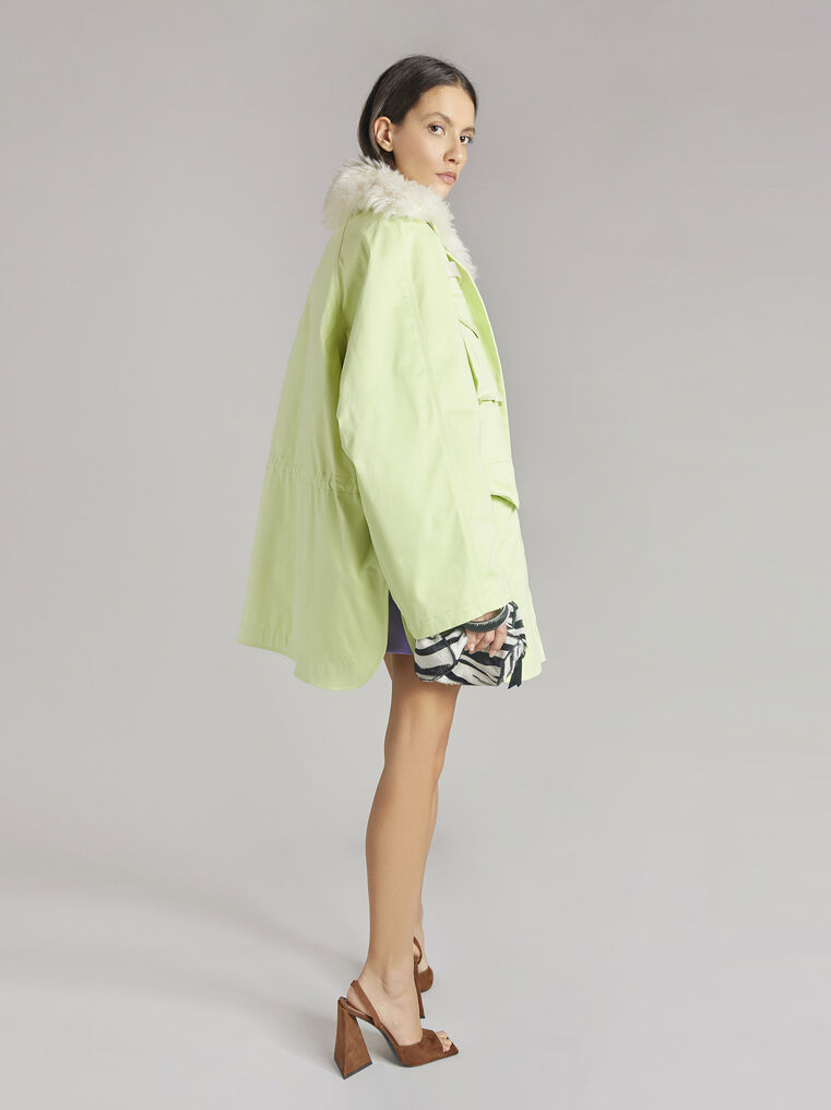 """THE ATTICO """"Janet"""" pale yellow field jacket 3"""