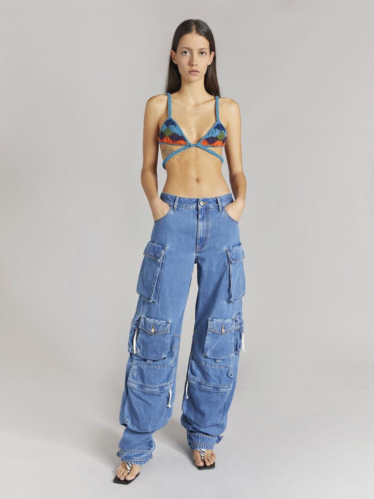 "THE ATTICO ""Fern"" blue denim pants 1"
