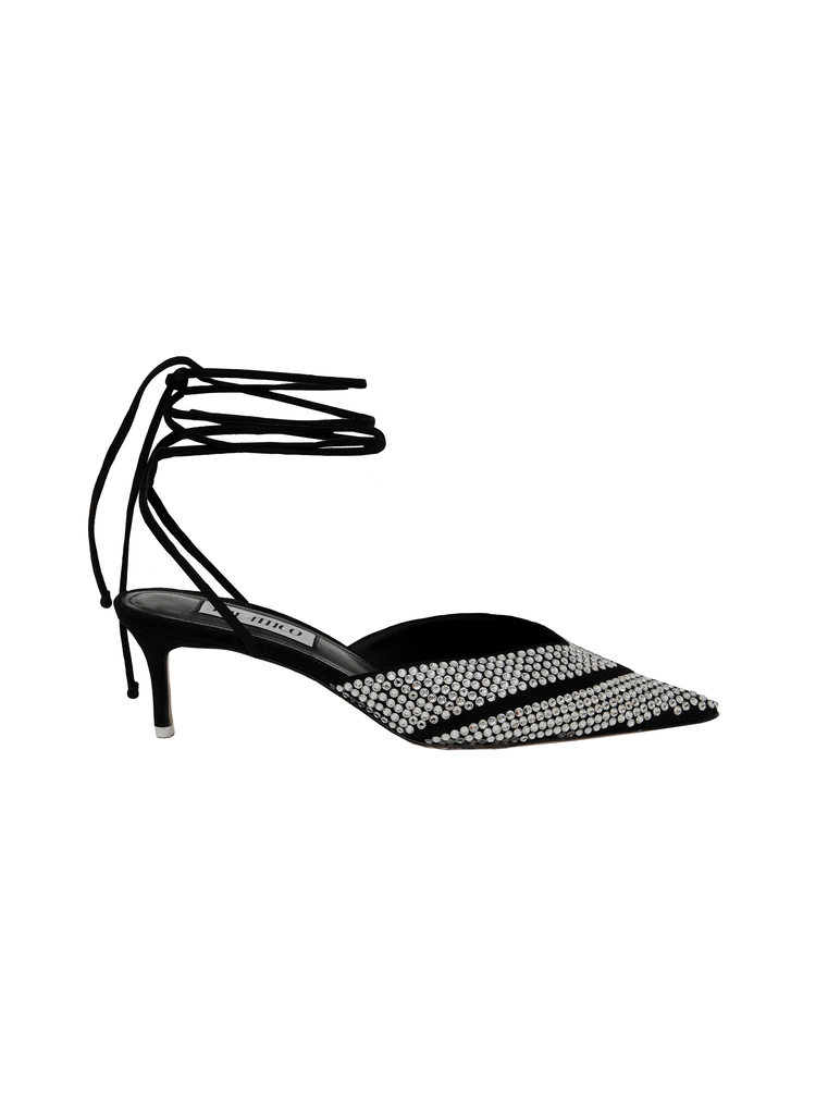 The Attico Kitten Heel Ankle Strap With Strass 4