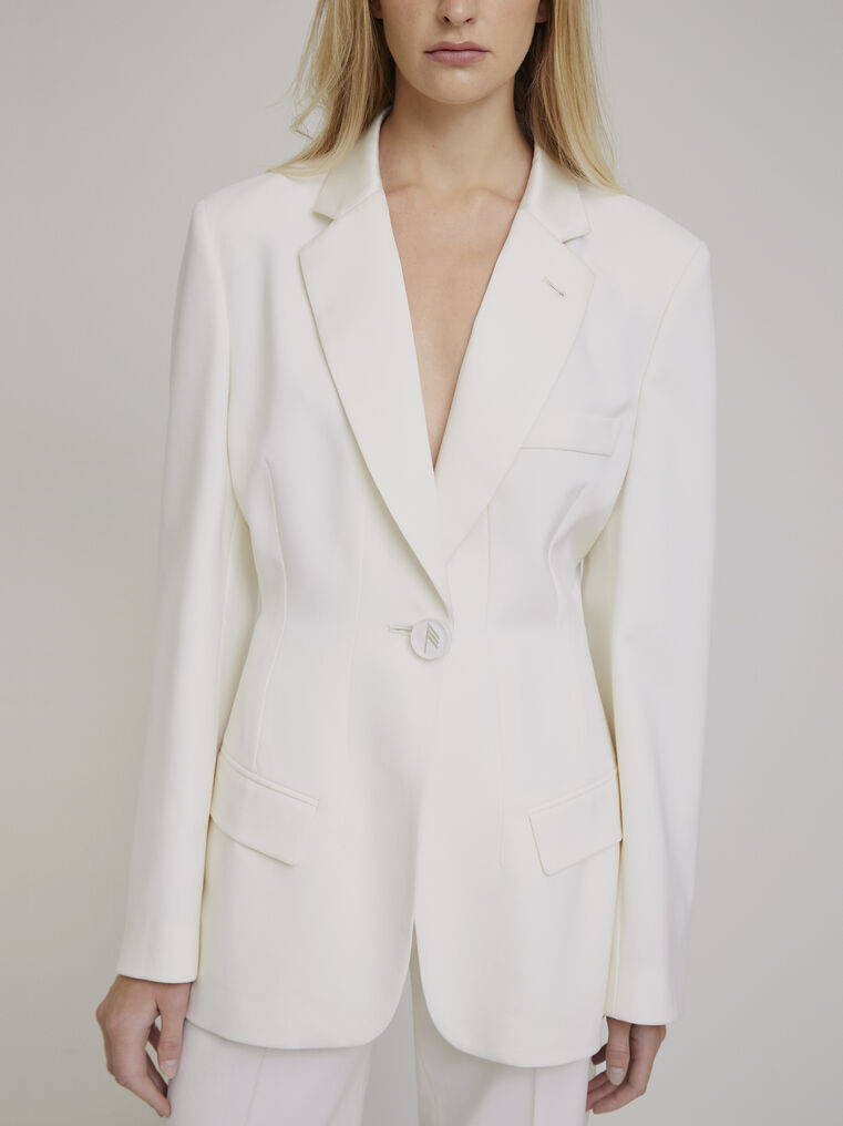 "The Attico ""Donna"" white jacket 2"