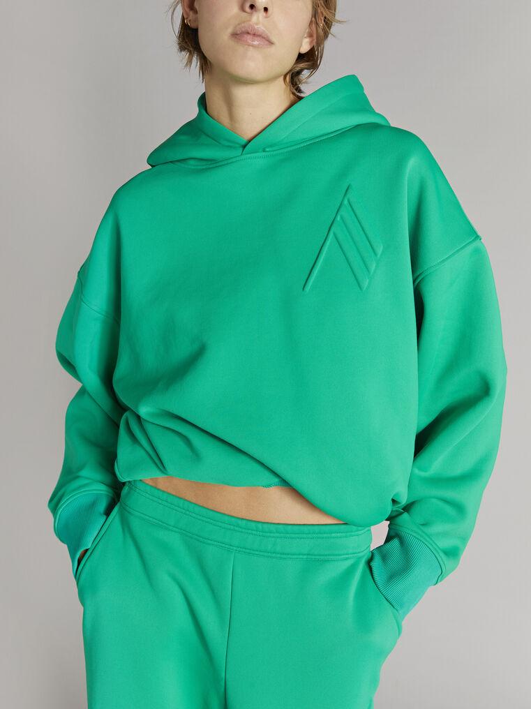 "THE ATTICO ""Maeve"" emerald sweatshirt 2"