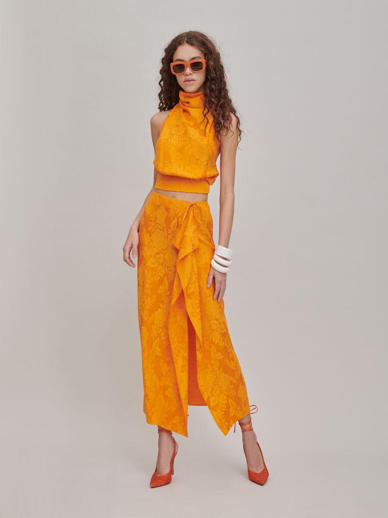 """The Attico """"Gia"""" orange long skirt 1"""