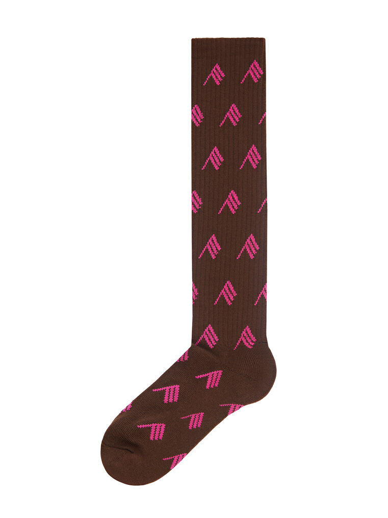 THE ATTICO Sahara bicolor allover sponge long socks 3