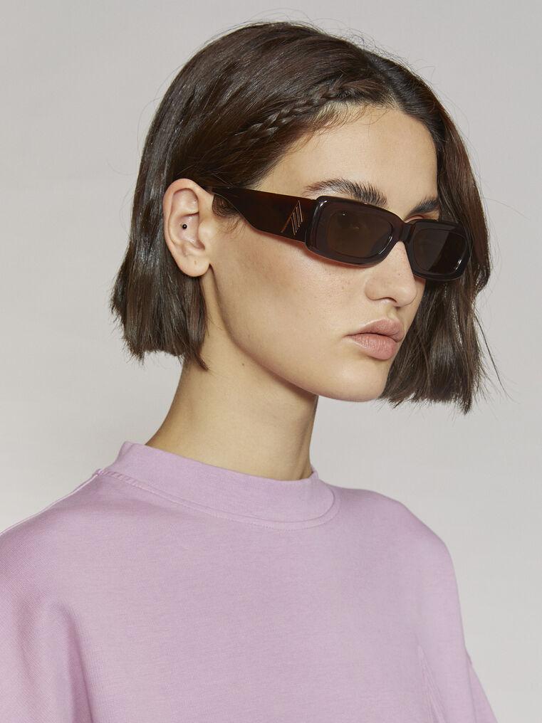 """THE ATTICO """"Mini Marfa"""" rum sunglasses 1"""