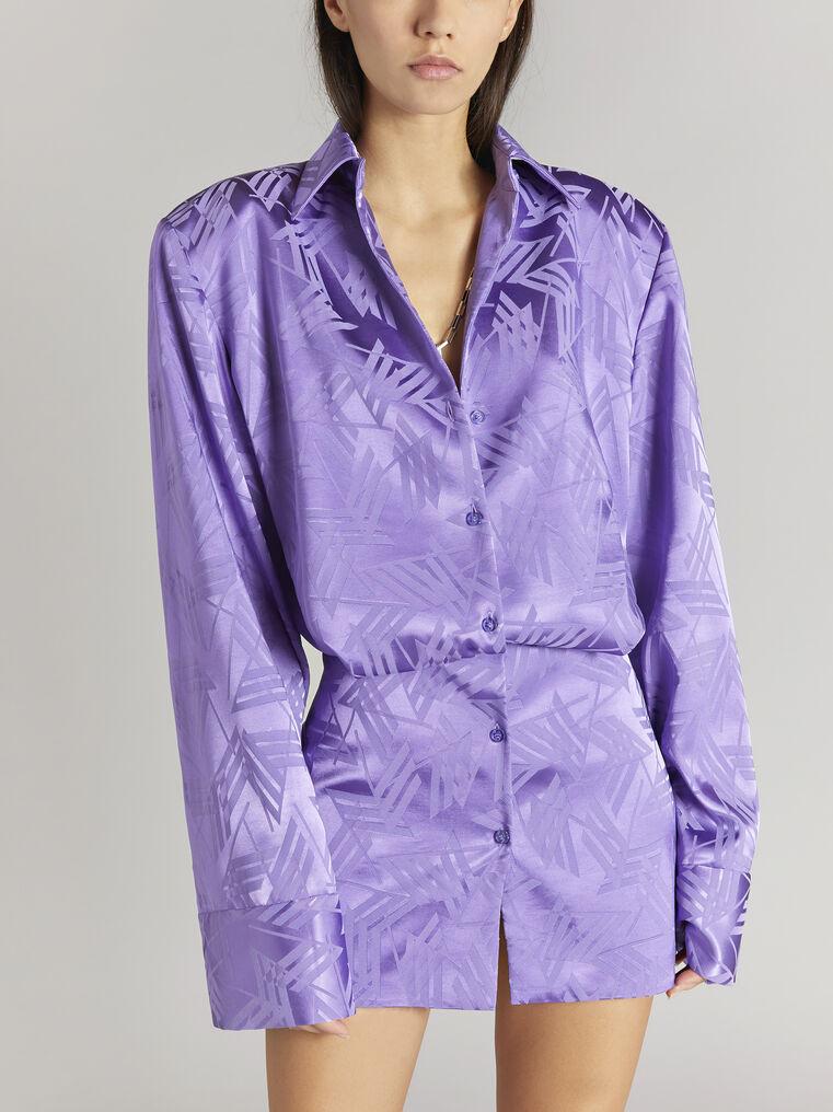 """THE ATTICO """"Margot"""" violet chemisier mini dress 2"""