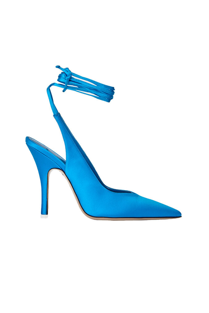 "The Attico Blue satin ""Venus"" slingback 4"