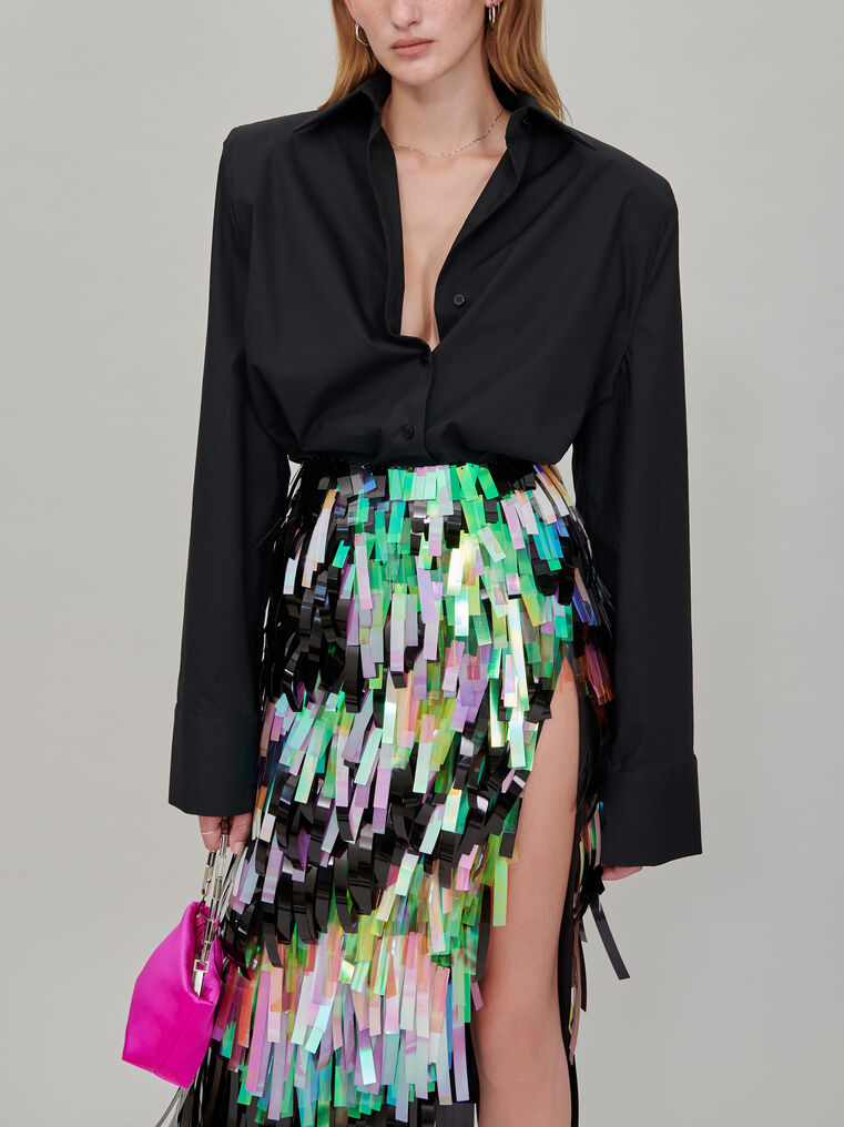 The Attico Pencil midi skirt with slit 2