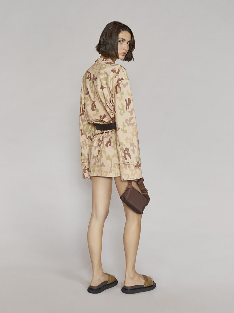 "THE ATTICO ""Palmer"" camouflage mini dress 3"