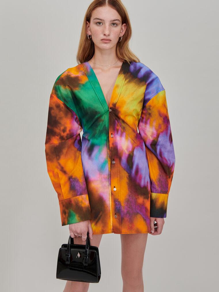 """The Attico """"Lala"""" multicolor chemisier mini dress 2"""