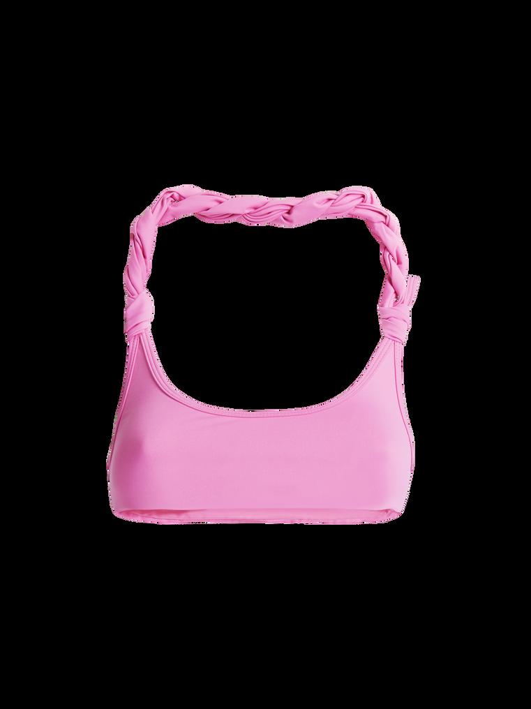 THE ATTICO Matte baby pink bikini top 4