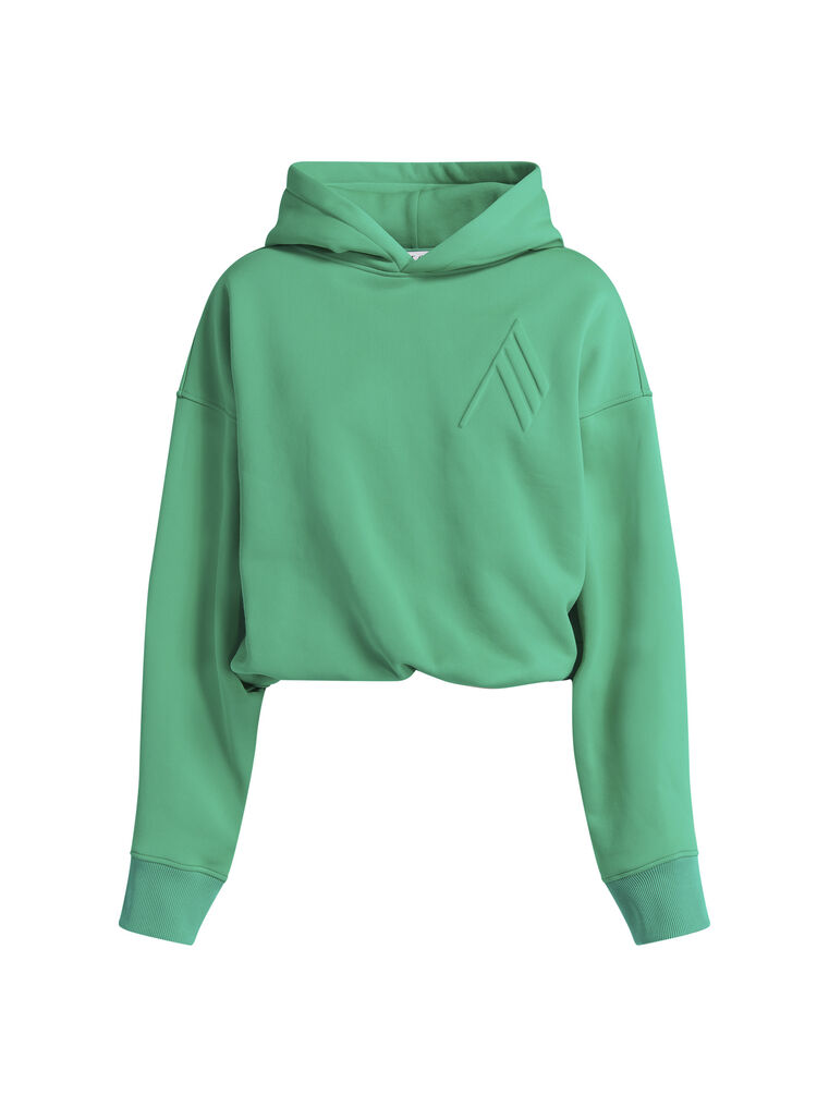 "THE ATTICO ""Maeve"" emerald sweatshirt 4"