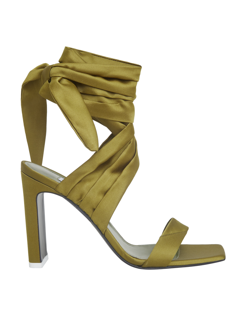"The Attico ""Paris"" military green sandals 3"