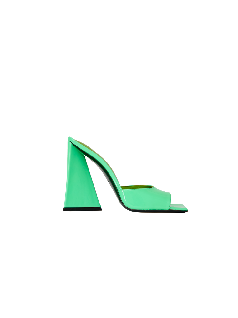 """The Attico """"Devon"""" neon green mule 4"""