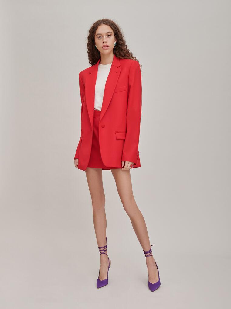 "The Attico ""Bianca"" red blazer jacket 1"