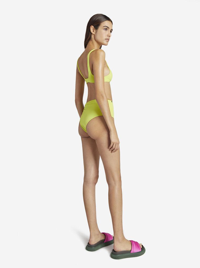 THE ATTICO Matte lime bikini top 3