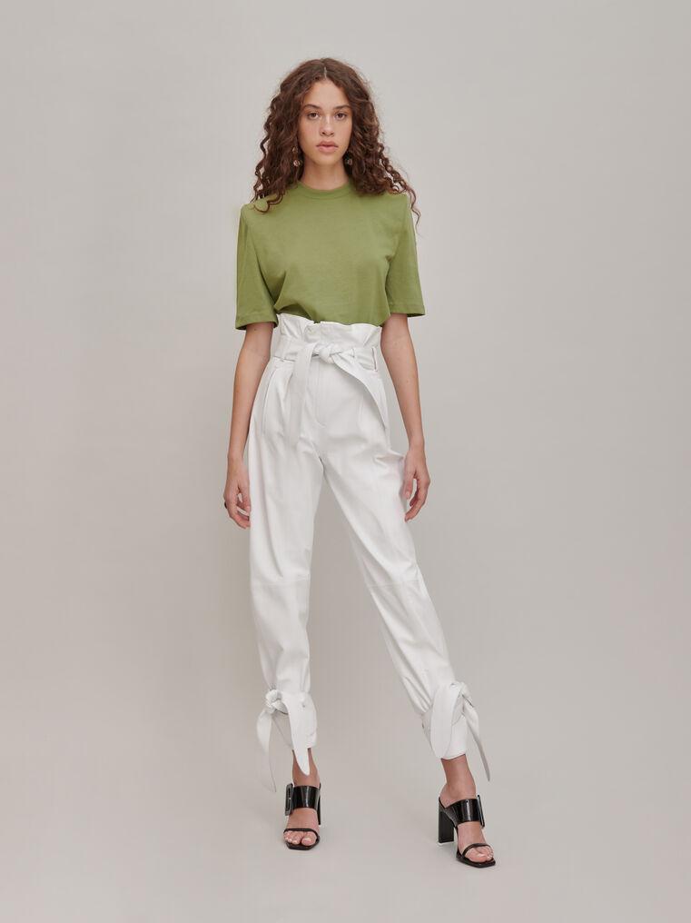 The Attico White high-rise pants 1