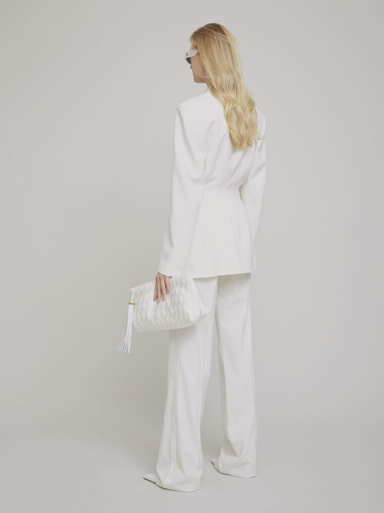 The Attico White wool pants 2