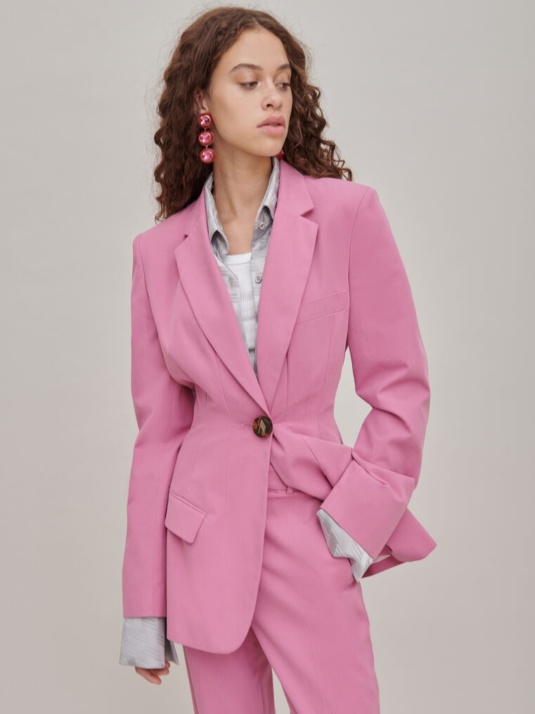 "The Attico ""Donna"" orchid pink jacket 3"
