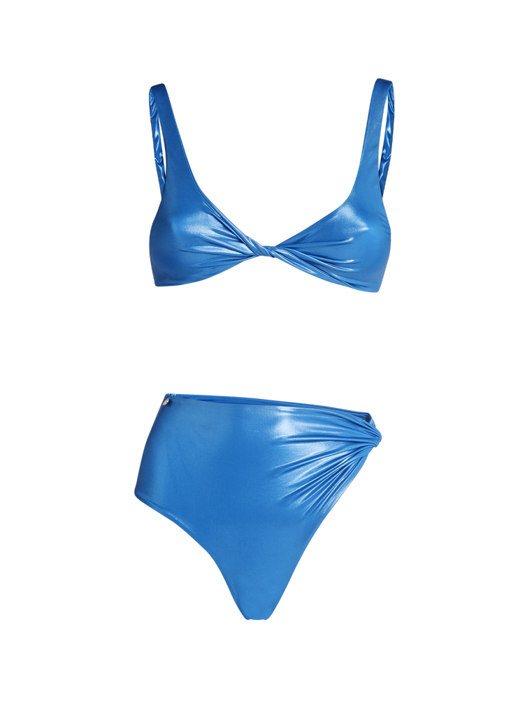 THE ATTICO Ocean blue metallic bikini 4