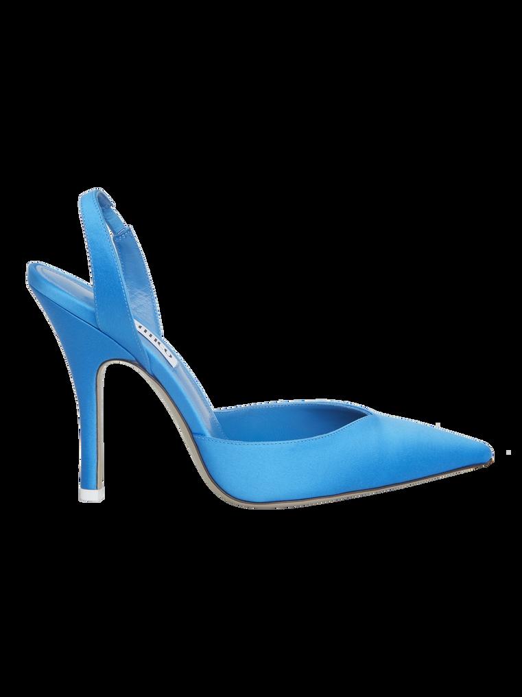 """The Attico """"Lola"""" turquoise slingback pumps 3"""