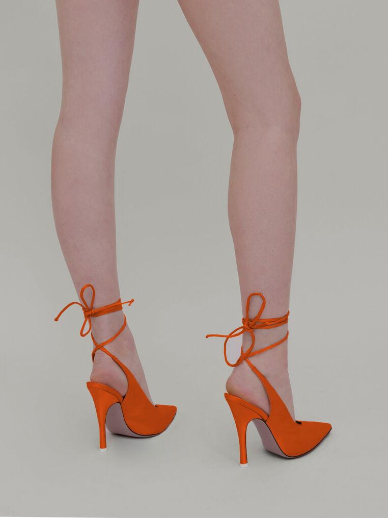 "The Attico ""Venus"" orange slingback 2"