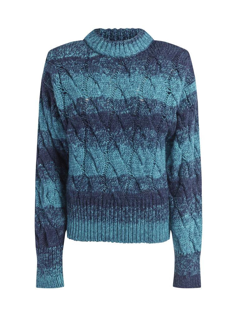 "THE ATTICO ""Kenna"" turquoise melange pullover 4"