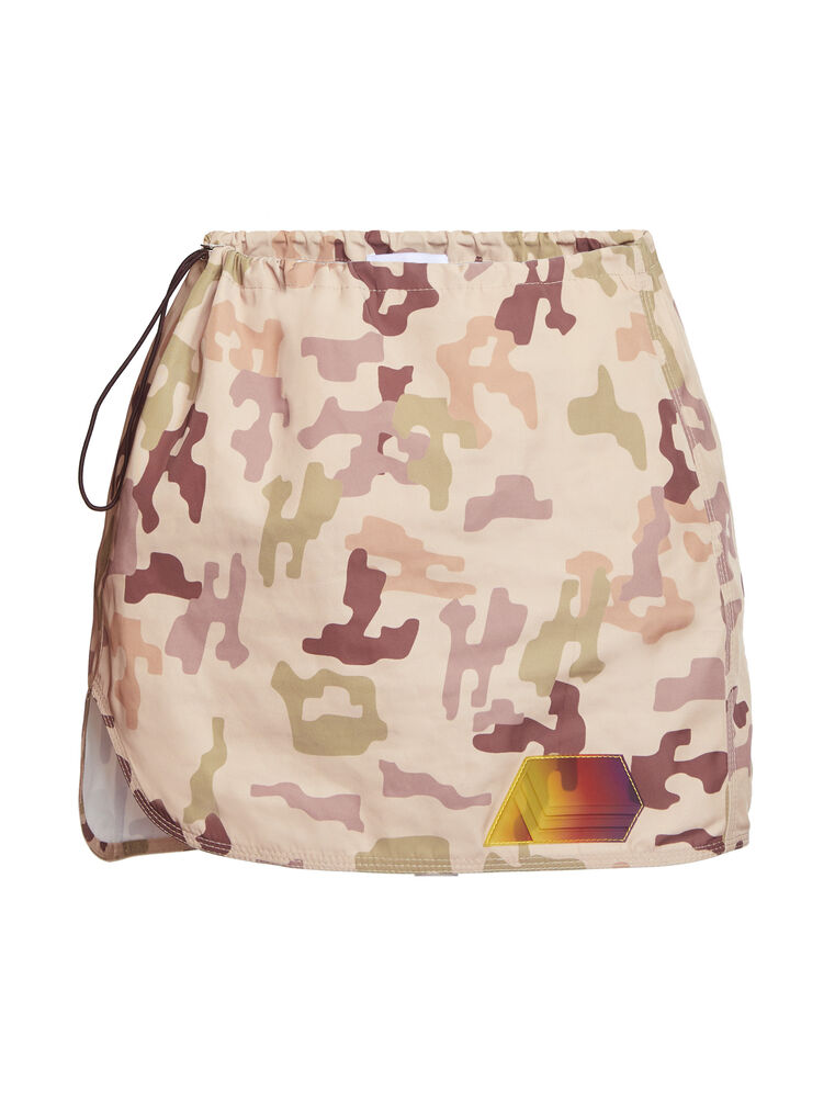 "THE ATTICO ""Giana"" sand camouflage mini skirt 4"
